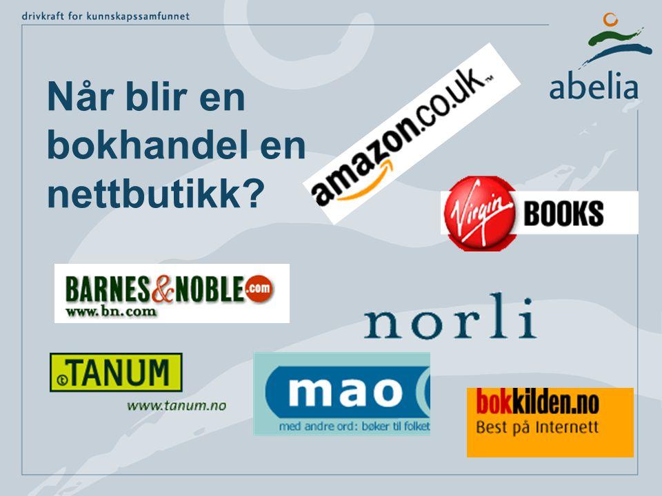Når blir en bokhandel en nettbutikk
