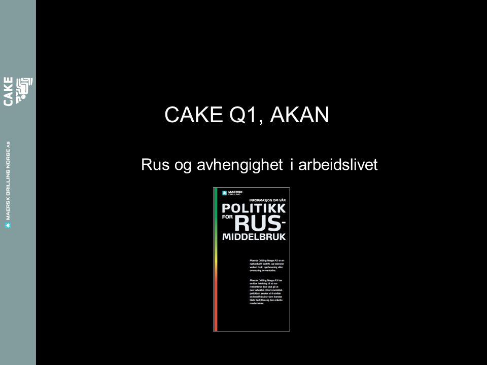 Rus og avhengighet i arbeidslivet CAKE Q1, AKAN