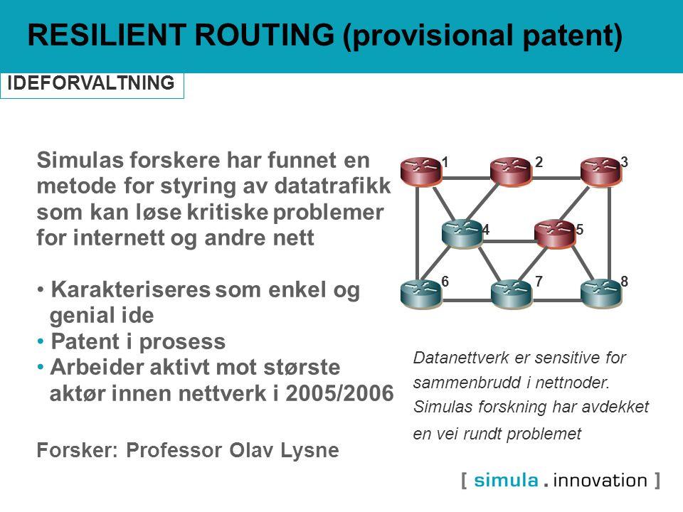 Simulas forskere har funnet en metode for styring av datatrafikk som kan løse kritiske problemer for internett og andre nett Karakteriseres som enkel