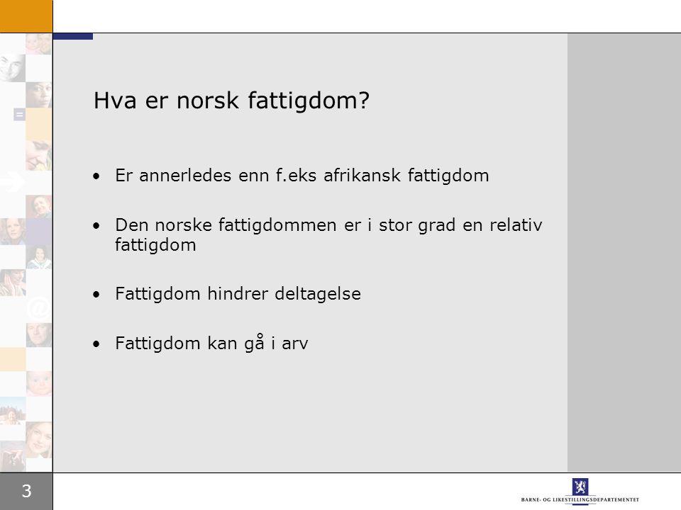 3 Hva er norsk fattigdom.