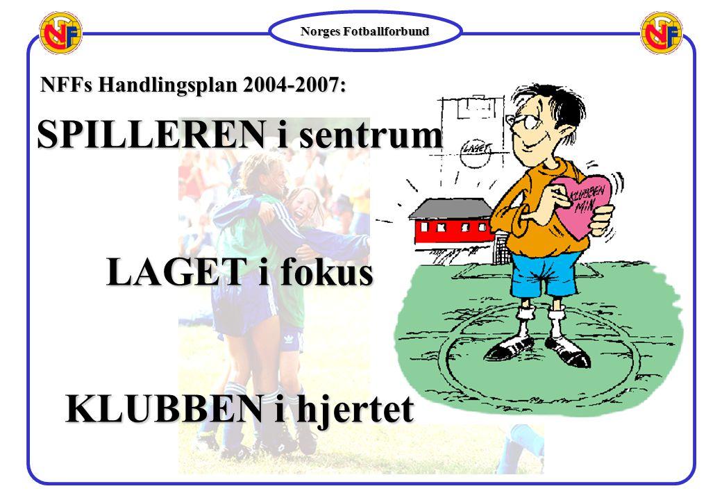 Norges Fotballforbund SPILLERENi sentrum LAGETi fokus KLUBBENi hjertet SPILLEREN i sentrum LAGET i fokus KLUBBEN i hjertet NFFs Handlingsplan 2004-200