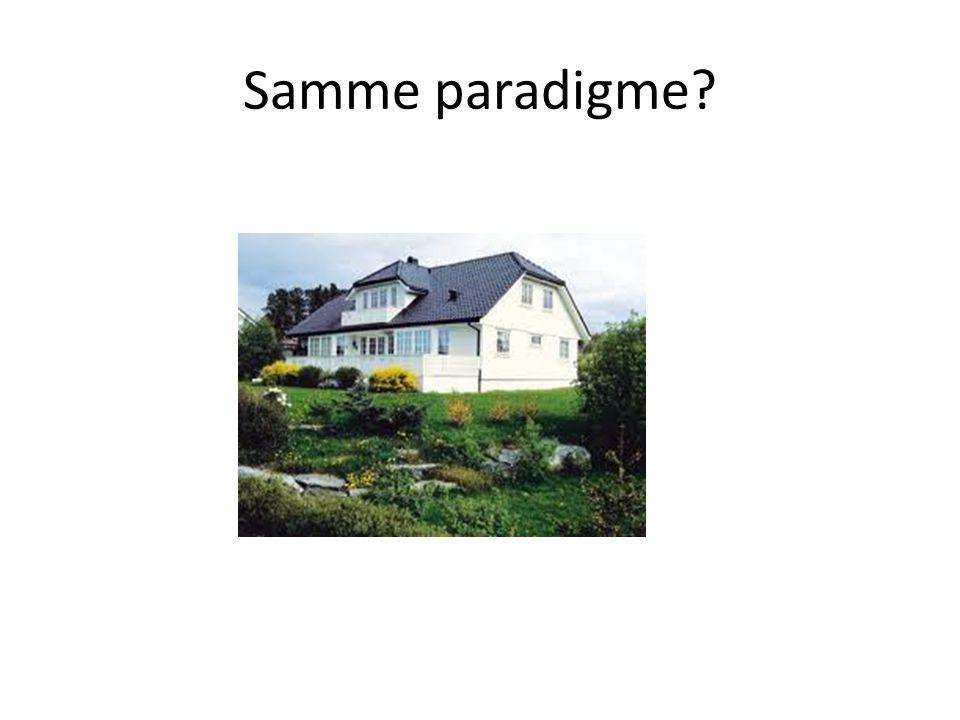 Samme paradigme?