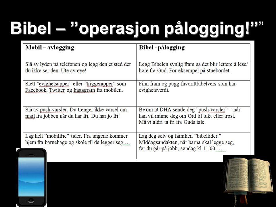 Bibel – operasjon pålogging! Bibel – operasjon pålogging!