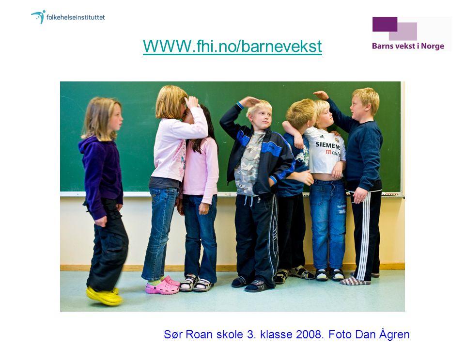 WWW.fhi.no/barnevekst Sør Roan skole 3. klasse 2008. Foto Dan Ågren