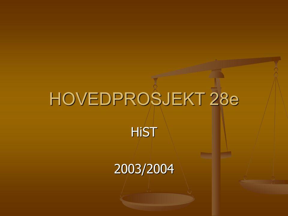 HOVEDPROSJEKT 28e HiST2003/2004