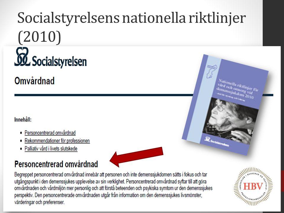 Socialstyrelsens nationella riktlinjer (2010)