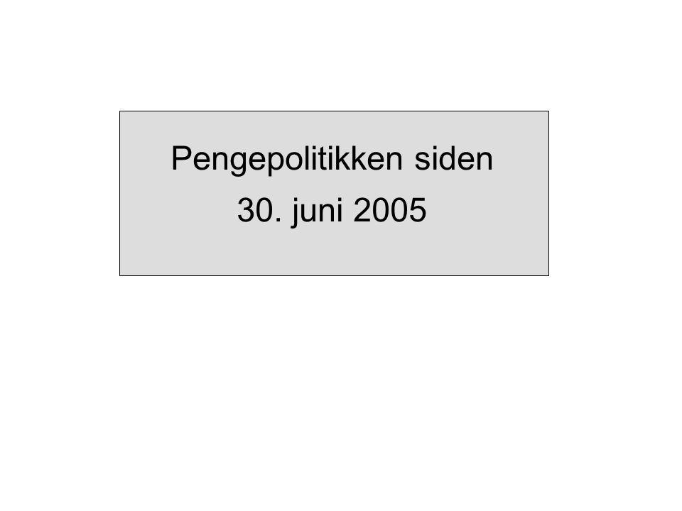 Pengepolitikken siden 30. juni 2005