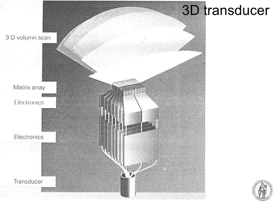 Fysisk institutt - Rikshospitalet 28 3D transducer