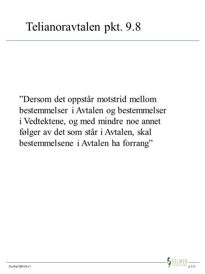 Side 111 DocRef 355143-v1 Telianoravtalen pkt.