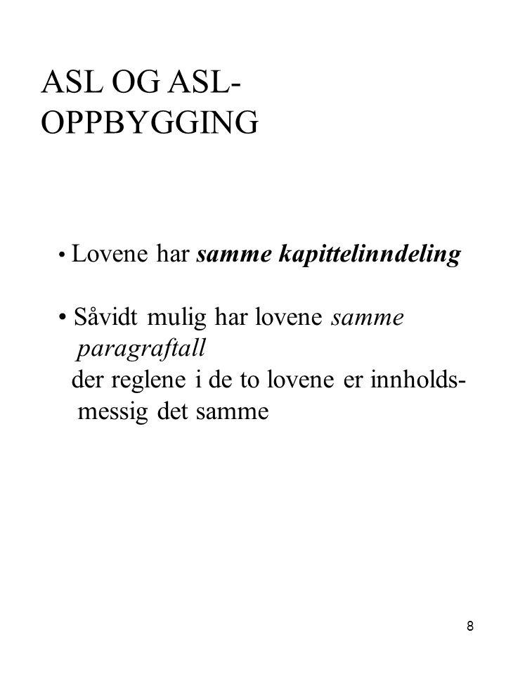 39 Magnus Aarbakke Rapport 19.okt 2004 FORSLAG Forslag til Endring i asl/asal § 17-1.