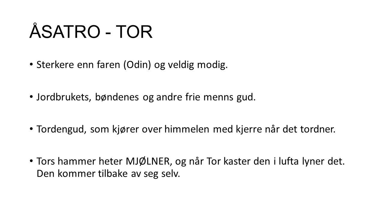 ÅSATRO - TOR Sterkere enn faren (Odin) og veldig modig.