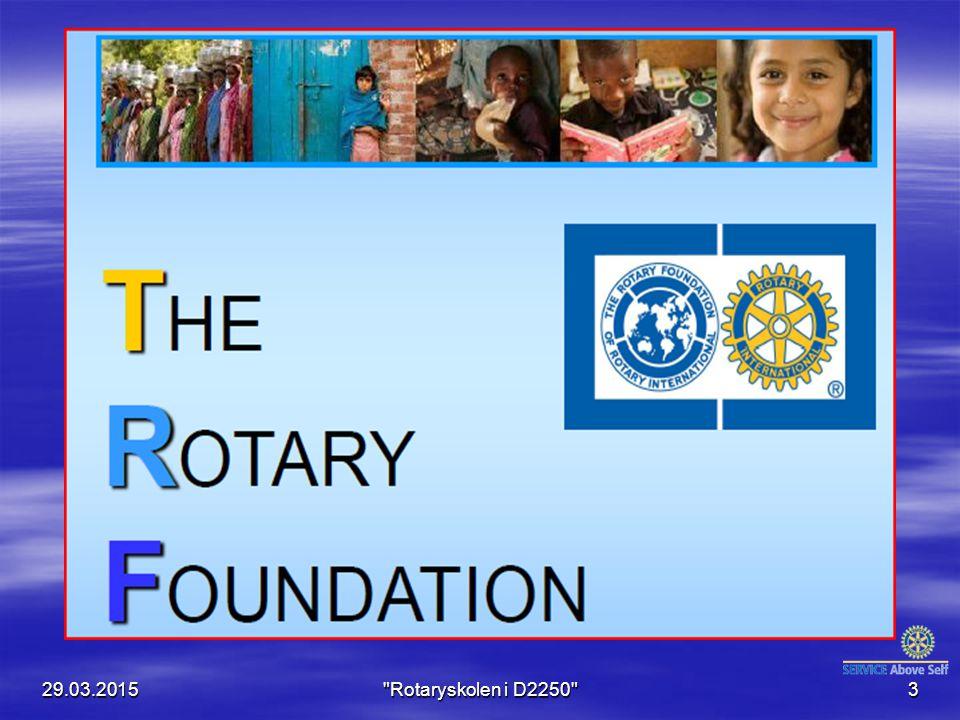Ingen kan si hva Rotary vil bli i fremtiden, men en ting er sikkert: Hva Rotary blir i fremtiden er av- hengig av hva rotarianere gjør i dag Arch Klumph 29.03.2015 Rotaryskolen i D2250 4