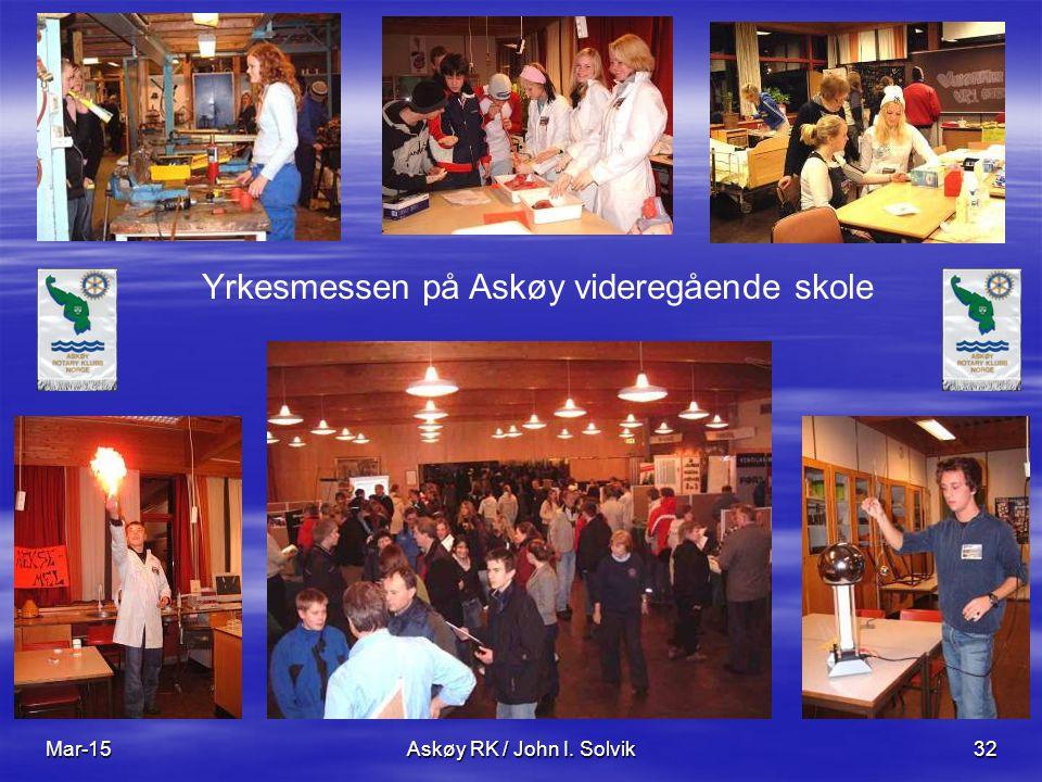 Mar-15Askøy RK / John I. Solvik32 Yrkesmessen på Askøy videregående skole
