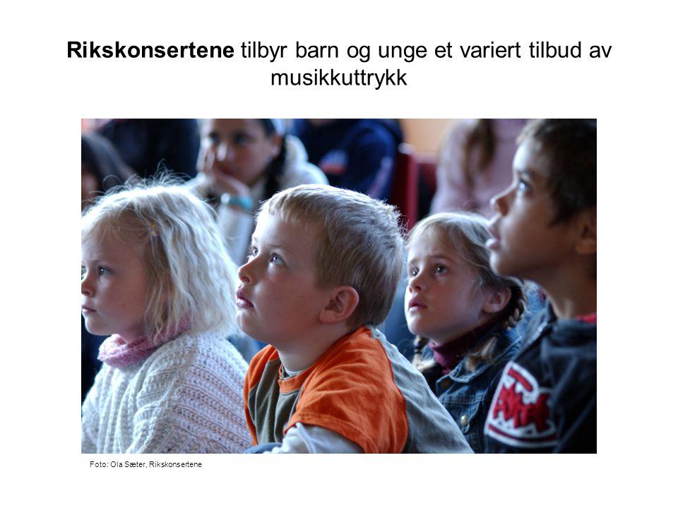Rikskonsertene tilbyr barn og unge et variert tilbud av musikkuttrykk Foto: Ola Sæter, Rikskonsertene