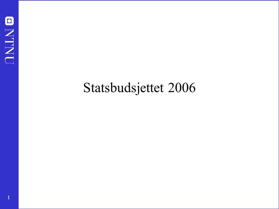 1 Statsbudsjettet 2006