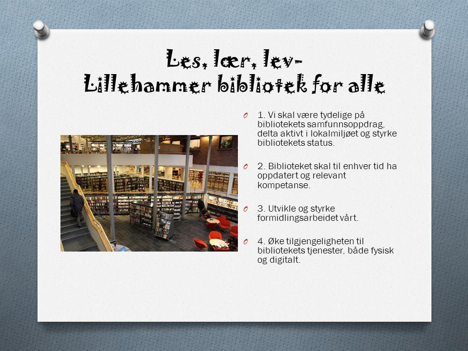 Les, lær, lev- Lillehammer bibliotek for alle O 1.