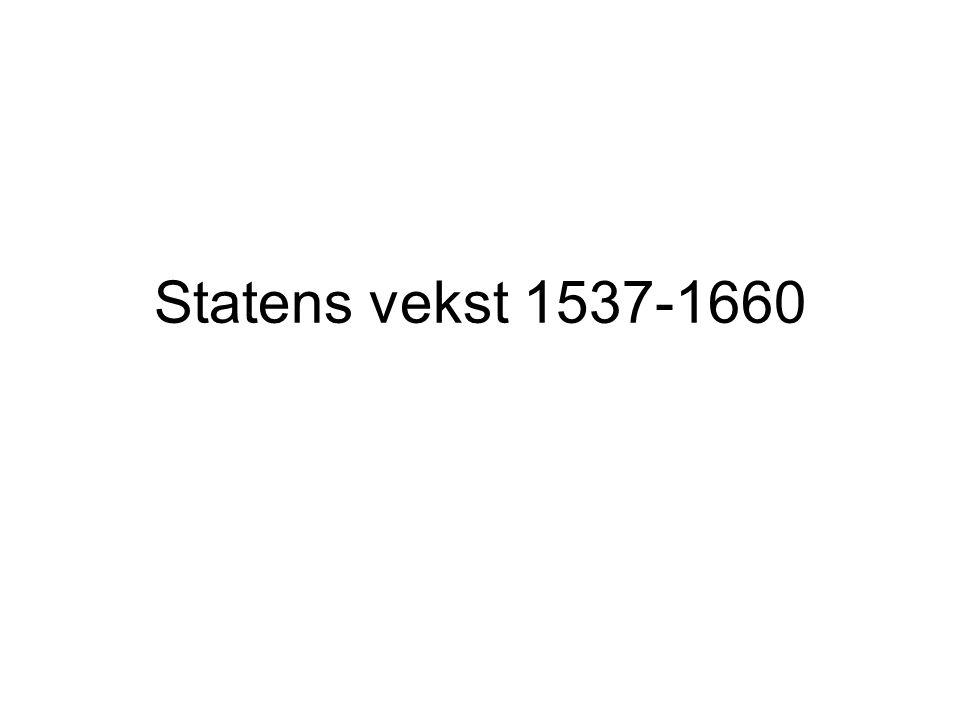 Embetsmenn overtar for den norske adelen 1661 – lensinntekter faller bort for adelen som stand (len blir amt) Embetsmenn blir snart den nye eliten I