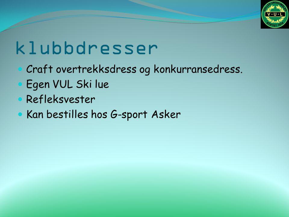 klubbdresser Craft overtrekksdress og konkurransedress.