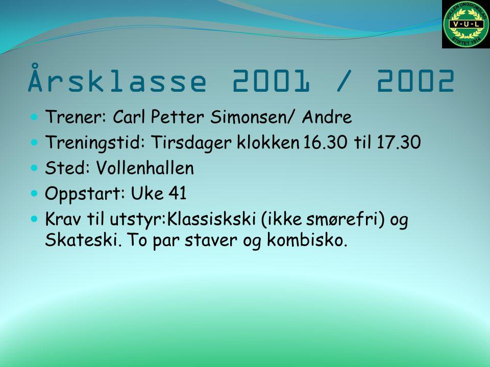 Årsklasse 1999 / 2000 Trener: Knut Bukve Cotrener: Arve Nøst Treningstid: Tirsdager klokken 20.00 til 21-00 Oppmøte klokken 19.00 for utetrening Sted: Vollenhallen Oppstart: Samling på Konnerud 25.09.11.