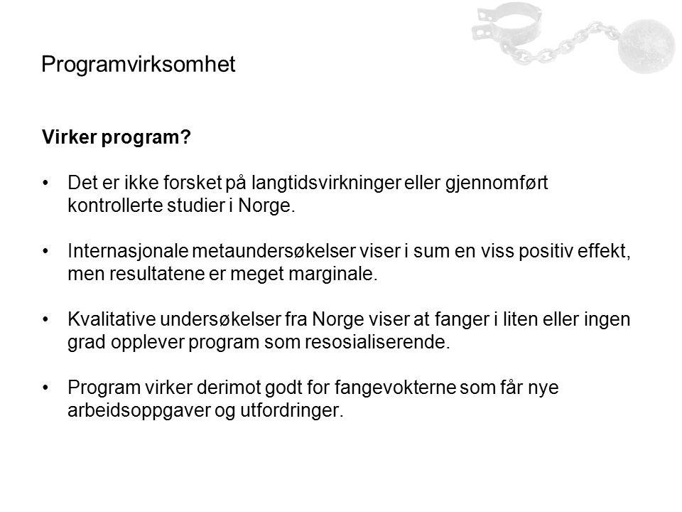 Programvirksomhet Virker program.