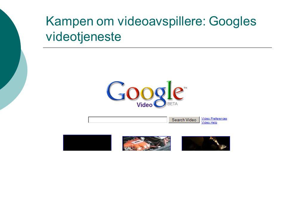 Kampen om videoavspillere: Googles videotjeneste