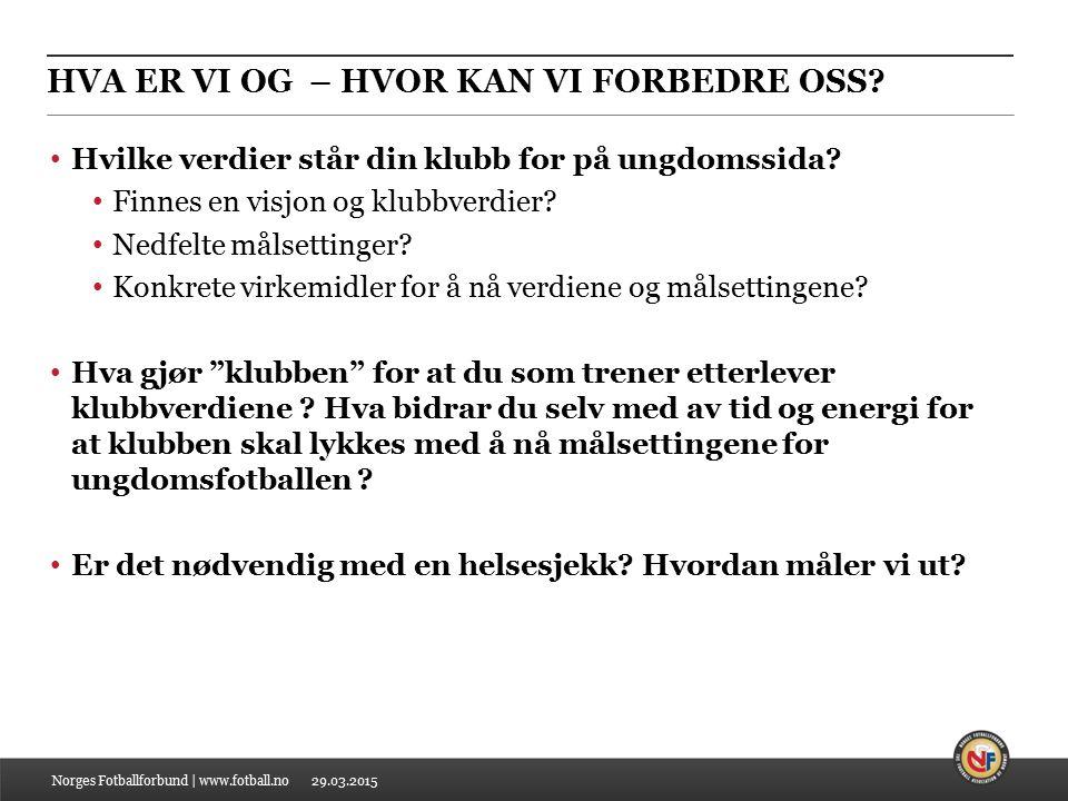 29.03.2015 HVA ER VI OG – HVOR KAN VI FORBEDRE OSS.
