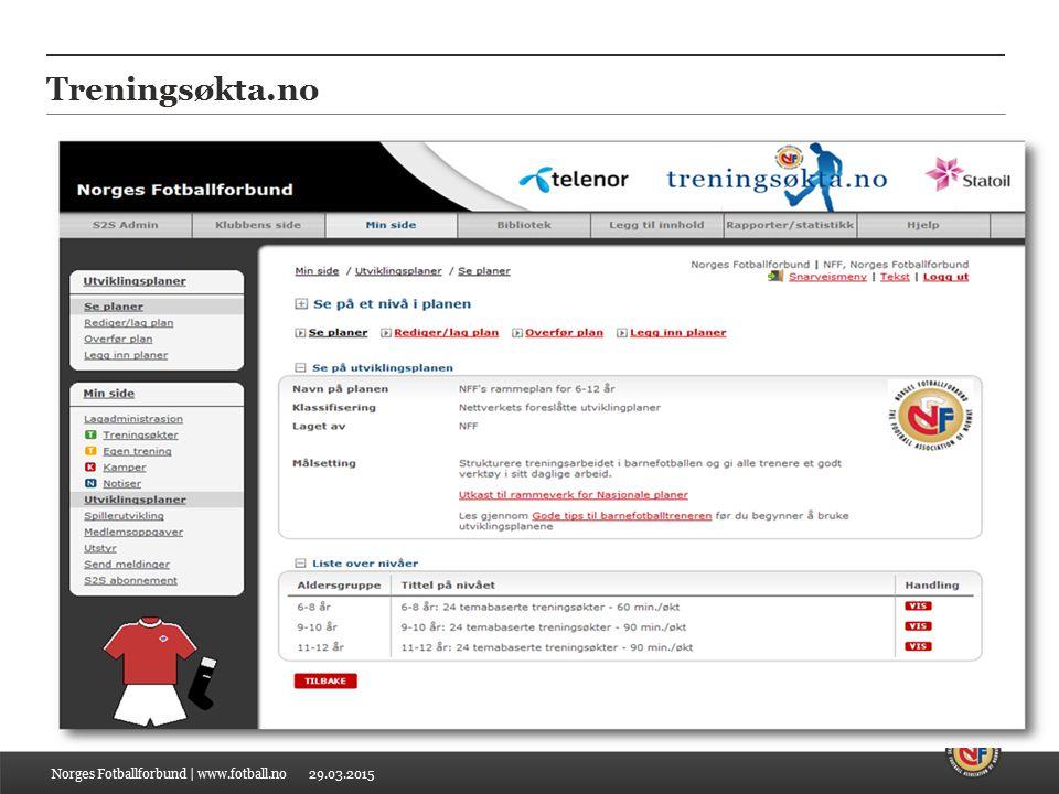 29.03.2015 Treningsøkta.no Norges Fotballforbund | www.fotball.no