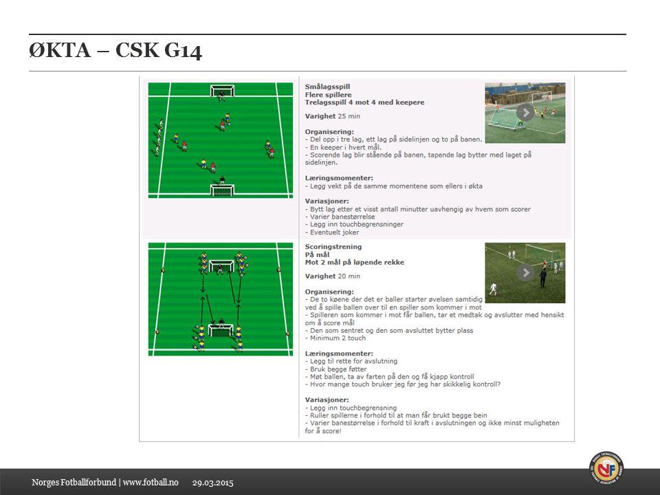 29.03.2015 ØKTA – CSK G14 Norges Fotballforbund | www.fotball.no