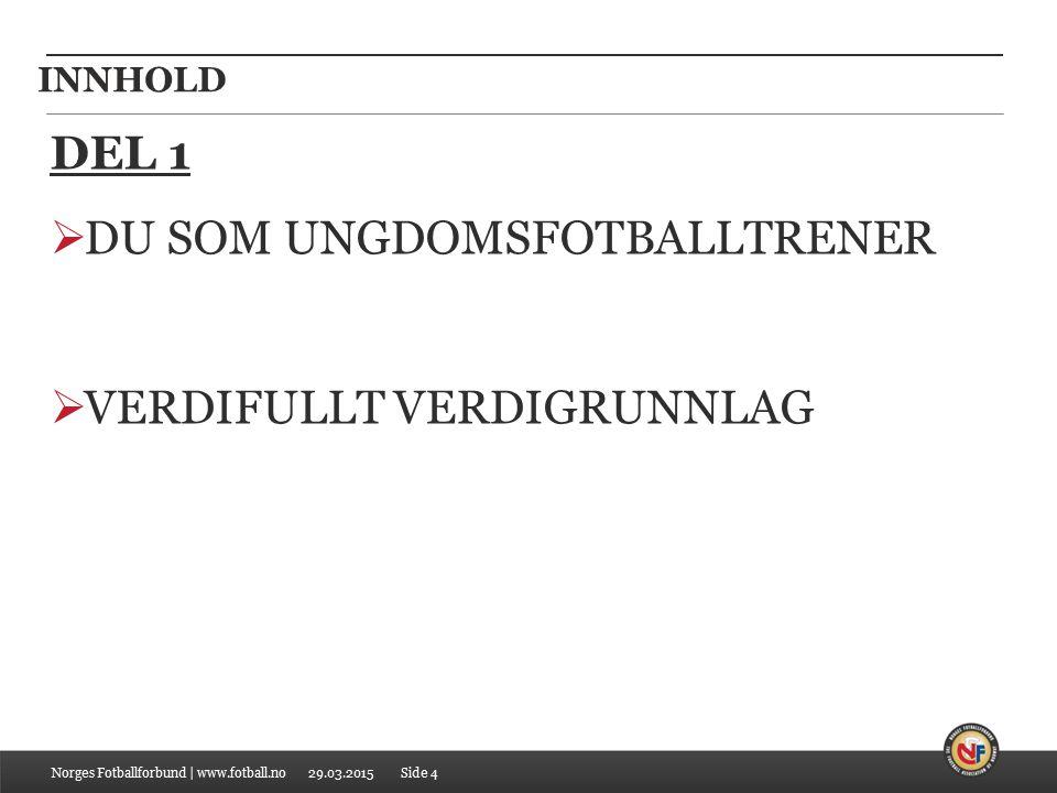 29.03.2015 INNHOLD DEL 2  HVOR STÅR VI I CHARLOTTENLUND I DAG.