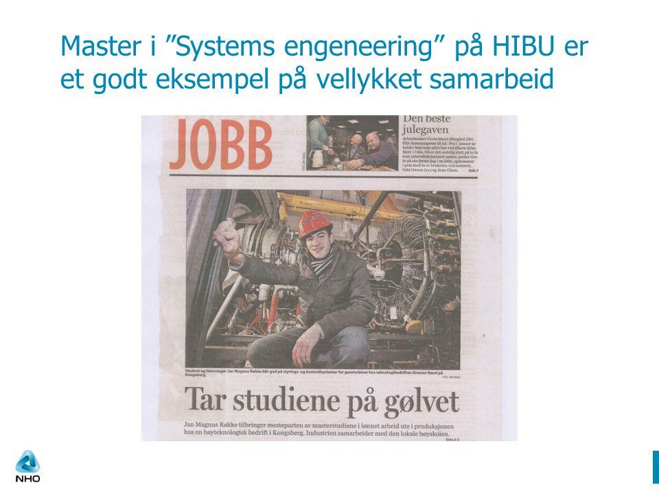 Master i Systems engeneering på HIBU er et godt eksempel på vellykket samarbeid