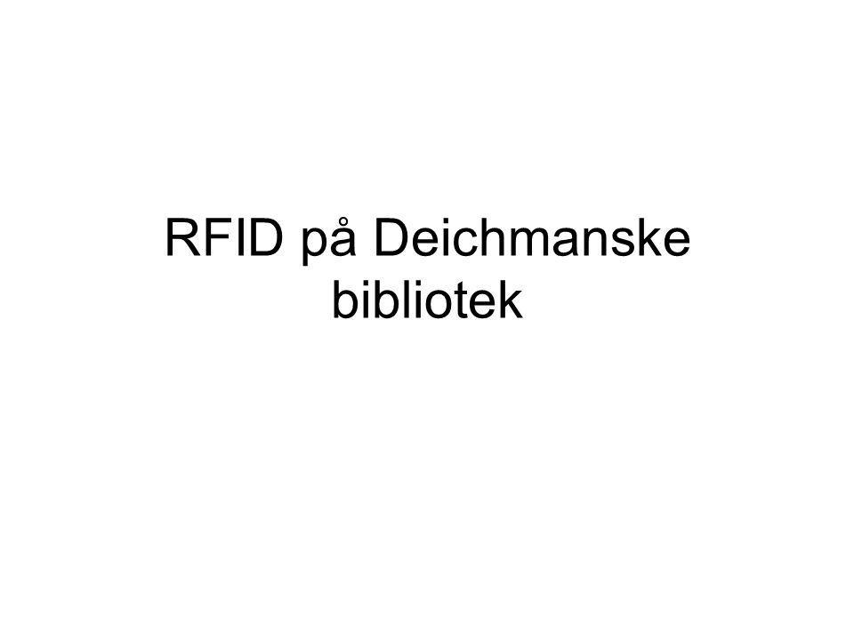 Problemstilling Hvordan påvirker innføringen av RFID, og annen teknologi på Deichmanske bibliotek, kundene og de ansatte på biblioteket, hva gjør det med deres opplevelse av å være på biblioteket, og hvordan kan det påvirke deres identitet og subjektivitet?