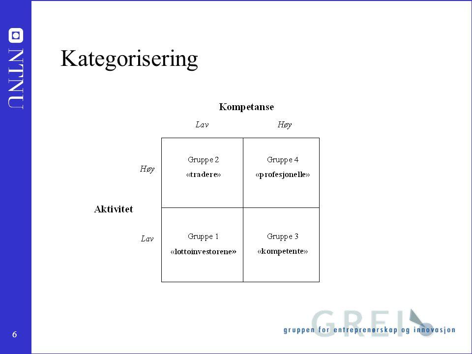 6 Kategorisering
