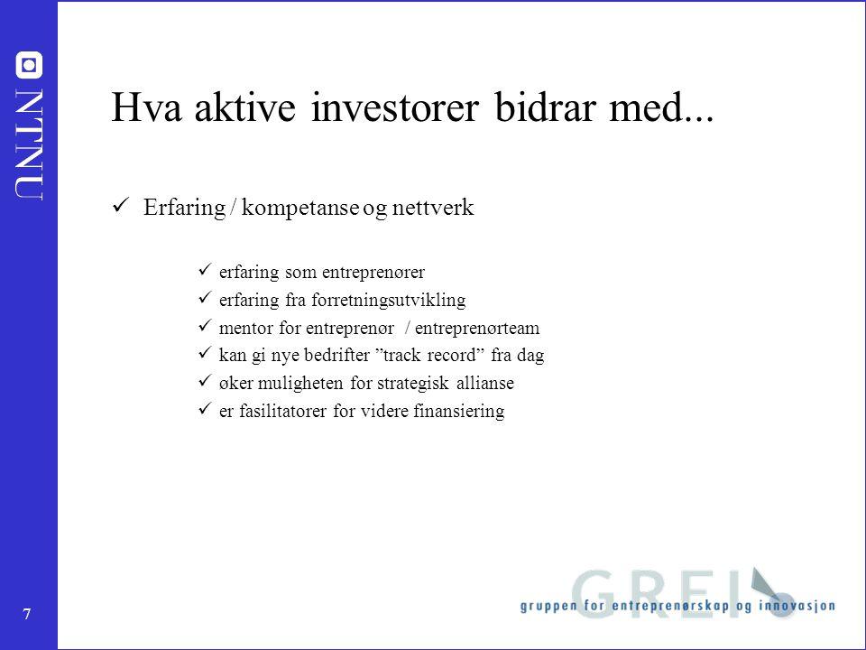 7 Hva aktive investorer bidrar med...
