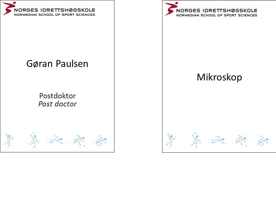 Gøran Paulsen Postdoktor Post doctor Mikroskop