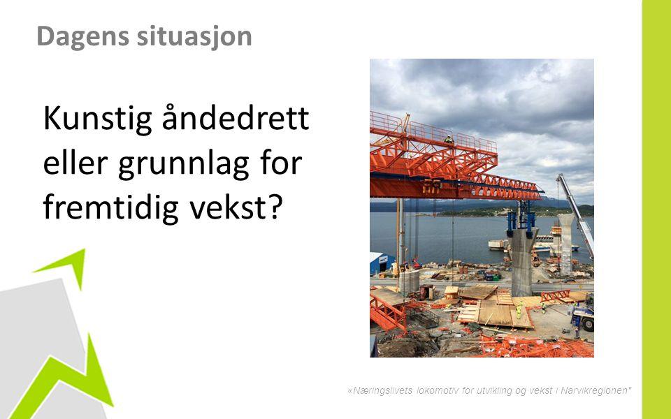 «Næringslivets lokomotiv for utvikling og vekst i Narvikregionen Dagens situasjon Kunstig åndedrett eller grunnlag for fremtidig vekst