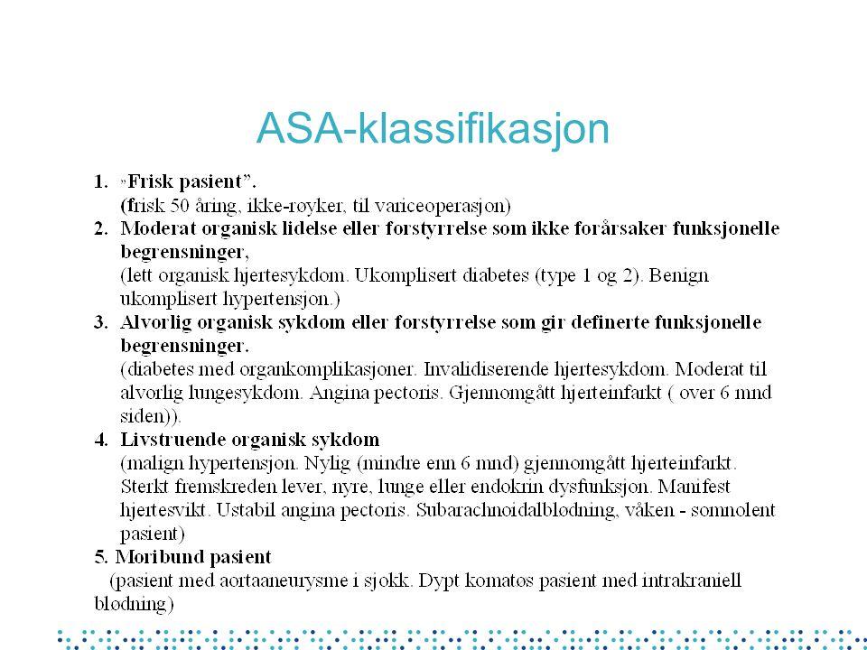 ASA-klassifikasjon