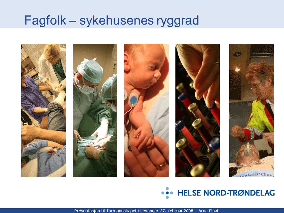 Presentasjon til formannskapet i Levanger 27. februar 2008 - Arne Flaat Fagfolk – sykehusenes ryggrad