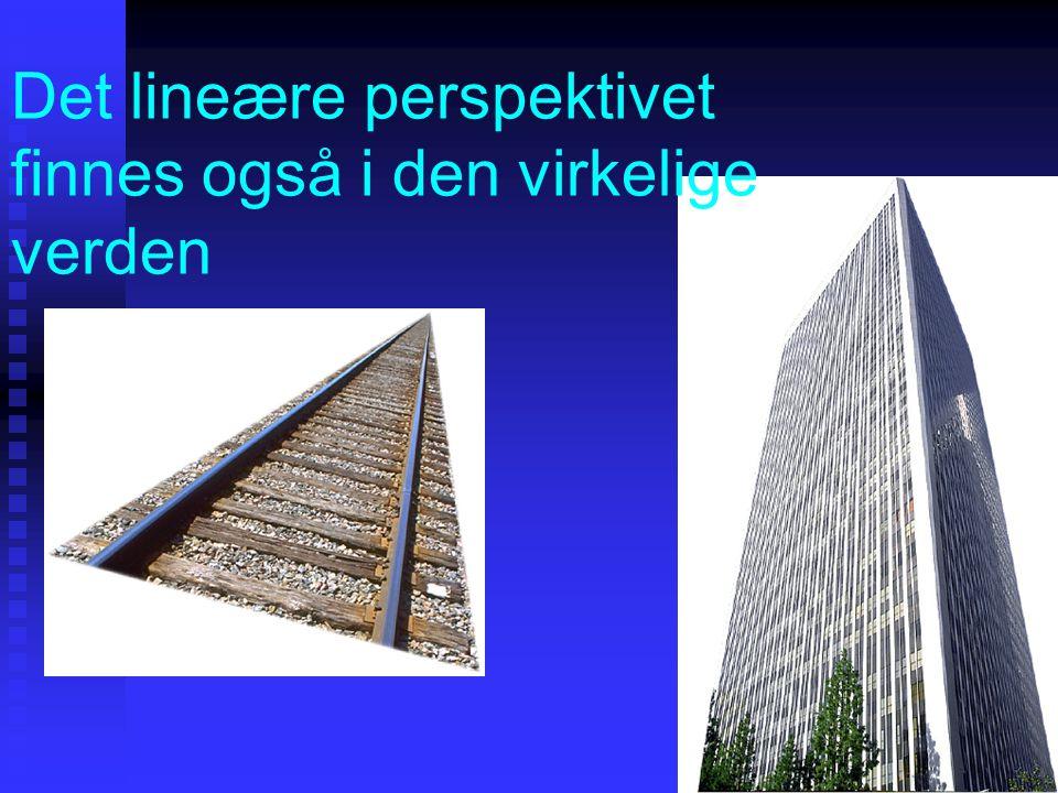 Det lineære perspektivet finnes også i den virkelige verden