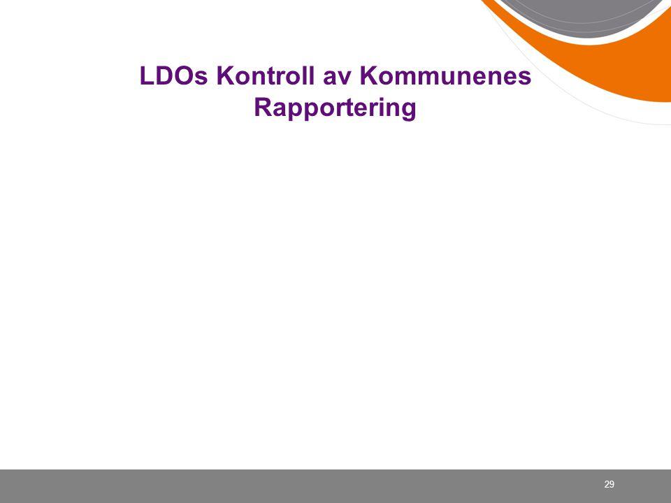 29 LDOs Kontroll av Kommunenes Rapportering