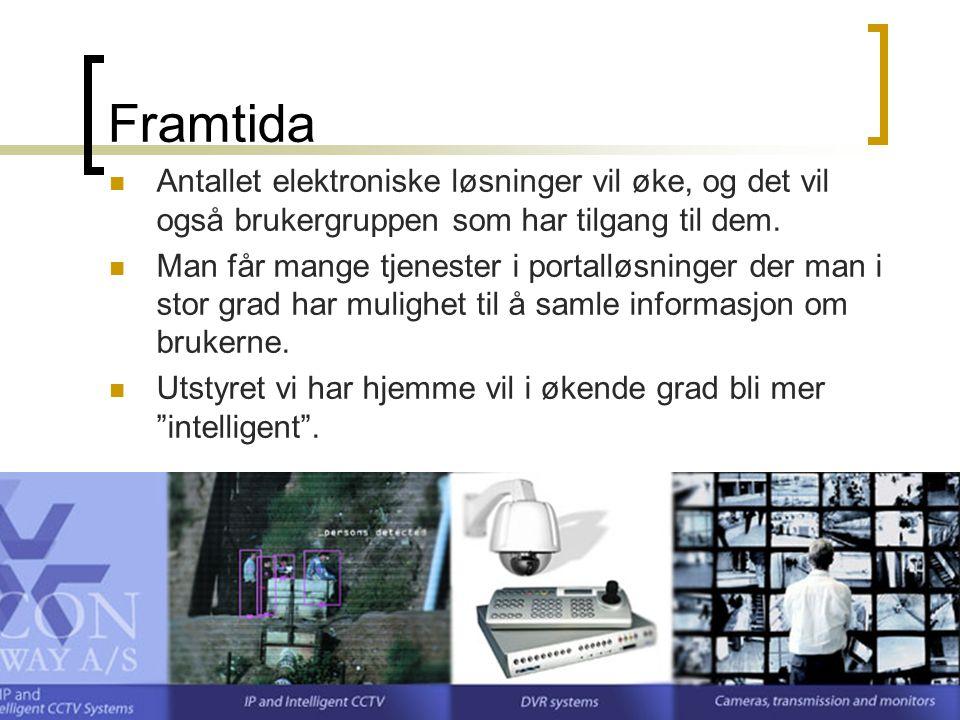 HiO - Andvendt datateknologi - Kirsten Ribu 2007 21 Framtida Antallet elektroniske løsninger vil øke, og det vil også brukergruppen som har tilgang til dem.