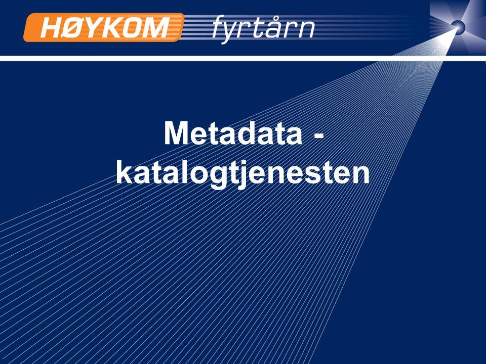 14 Metadata - katalogtjenesten
