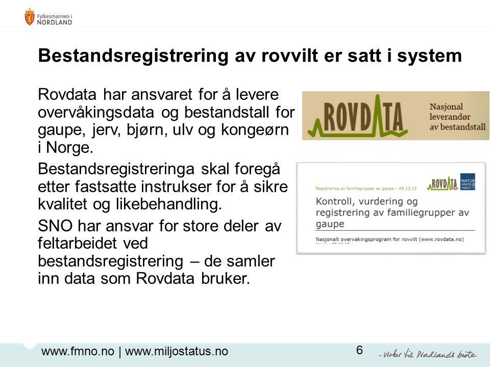 Rovdata har ansvaret for å levere overvåkingsdata og bestandstall for gaupe, jerv, bjørn, ulv og kongeørn i Norge.