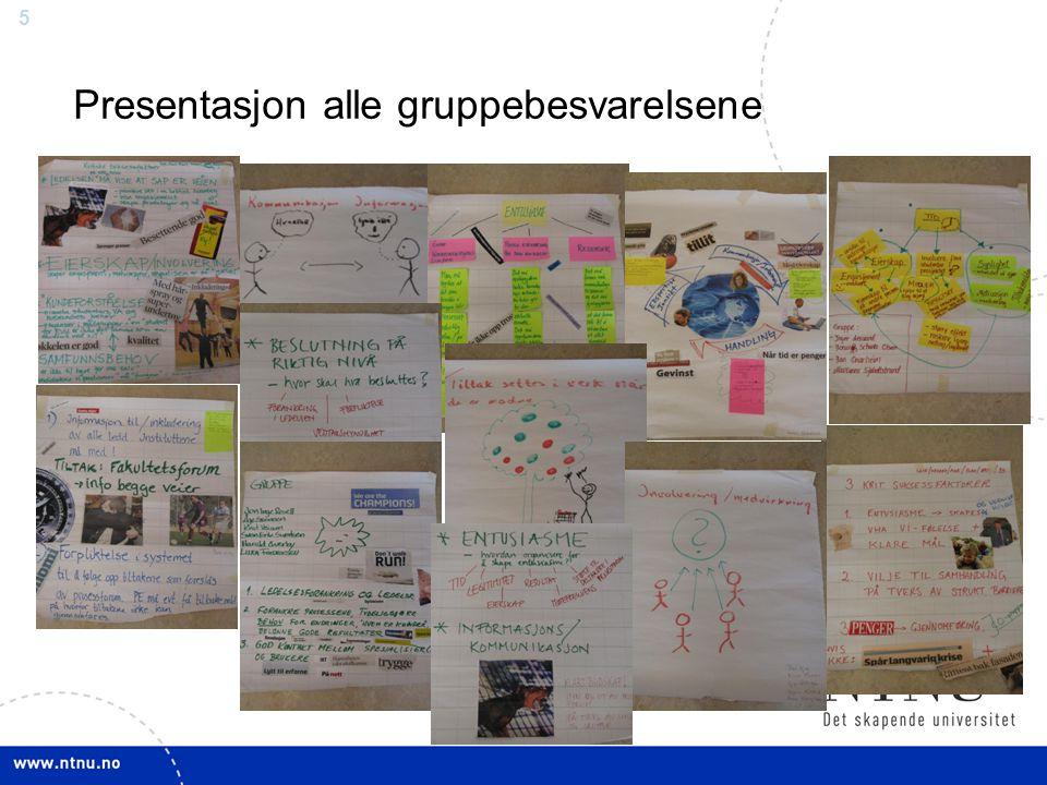 5 Presentasjon alle gruppebesvarelsene