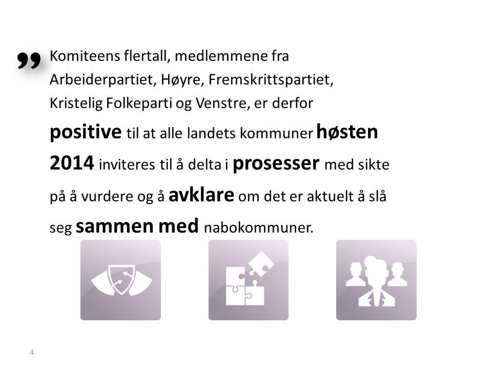 Komiteens flertall, medlemmene fra Arbeiderpartiet, Høyre, Fremskrittspartiet, Kristelig Folkeparti og Venstre, er derfor positive til at alle landets