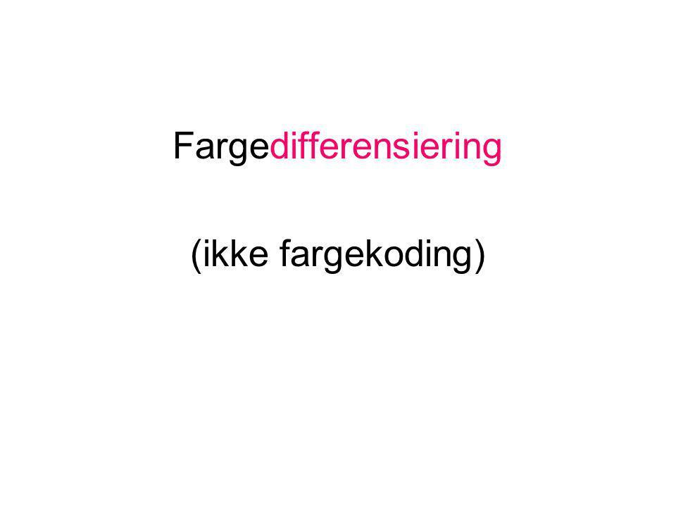 Fargedifferensiering (ikke fargekoding)