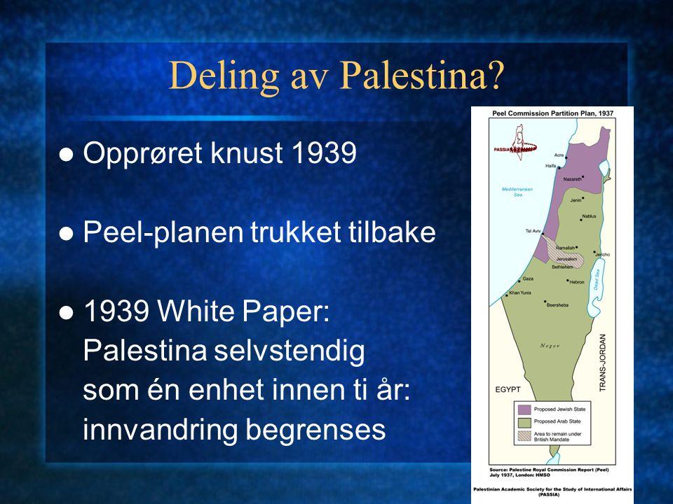 Deling av Palestina.