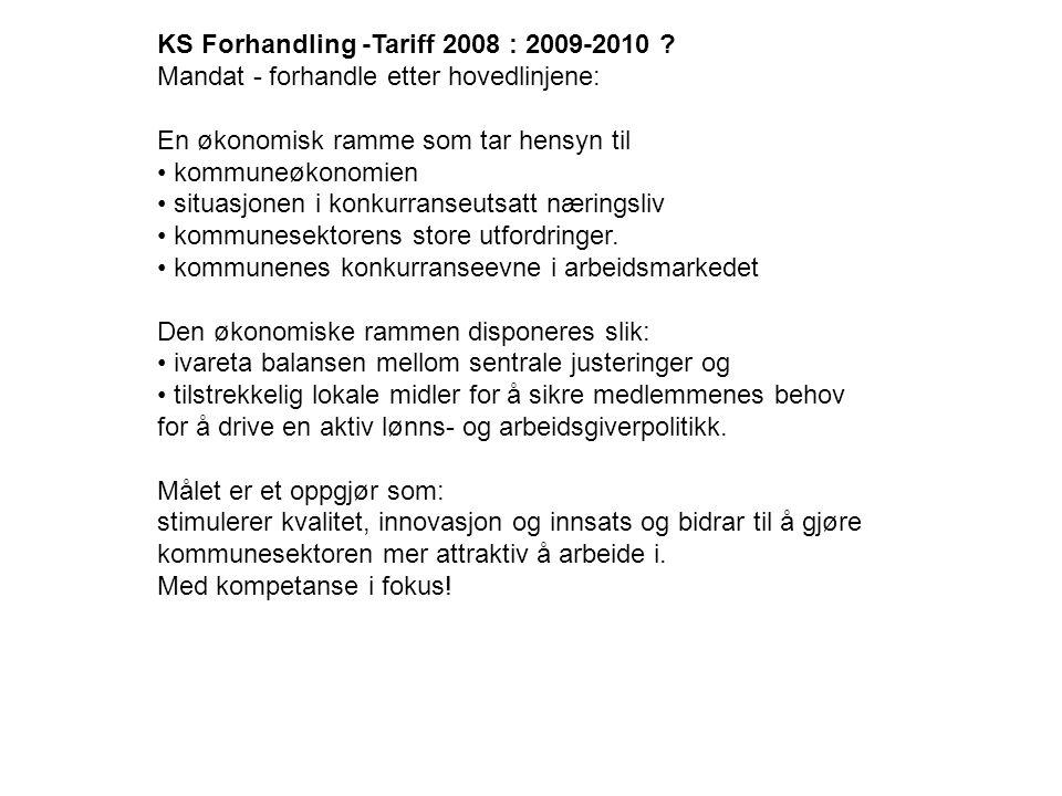 KS Forhandling -Tariff 2008 : 2009-2010 .