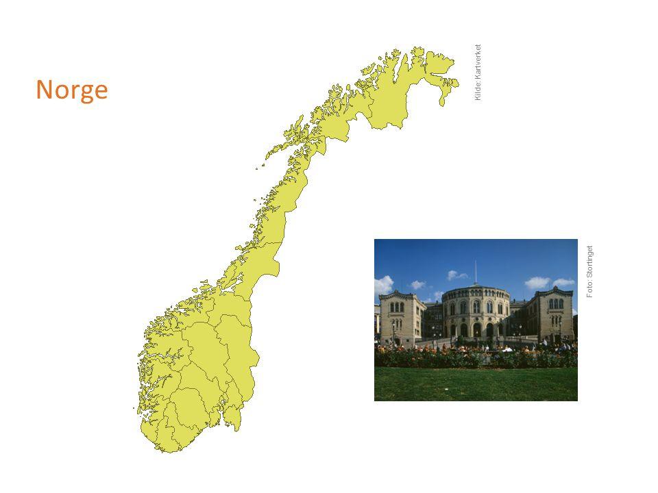Norge Kilde: Kartverket Foto: Stortinget
