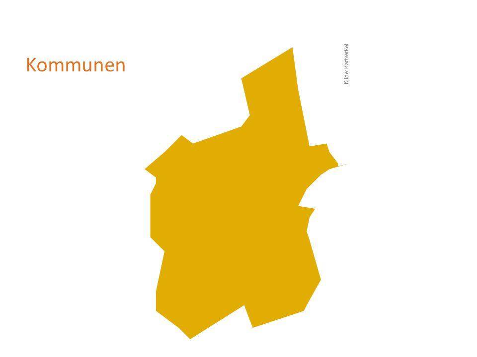 Kommunen Kilde: Kartverket