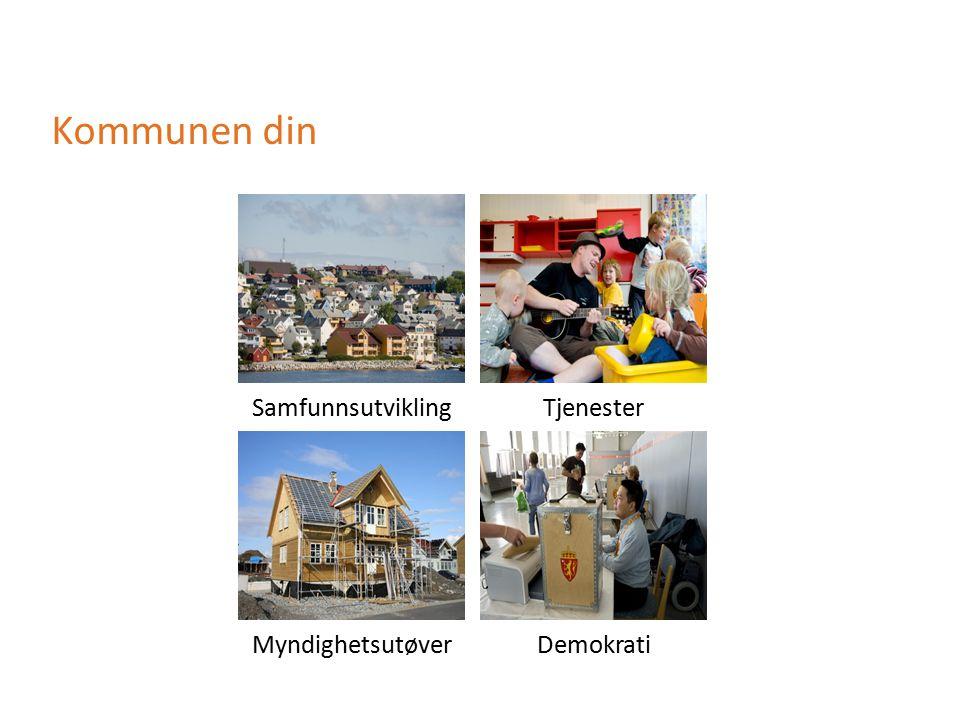 Kommunen din SamfunnsutviklingTjenester MyndighetsutøverDemokrati